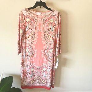 London Times Coral Dress Size 8 NWT